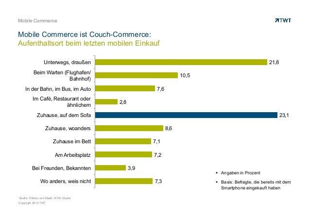 Mobile CommerceMobile Commerce ist Couch-Commerce:Aufenthaltsort beim letzten mobilen Einkauf                  Unterwegs, ...