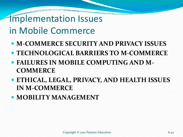 Problems with mobile commerce