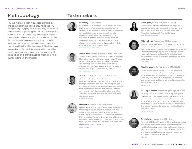 MOBILE COMMERCE PLAYBOOK 42 PSFK employs a technique popularized by the social sciences called grounded theory analysis. B...
