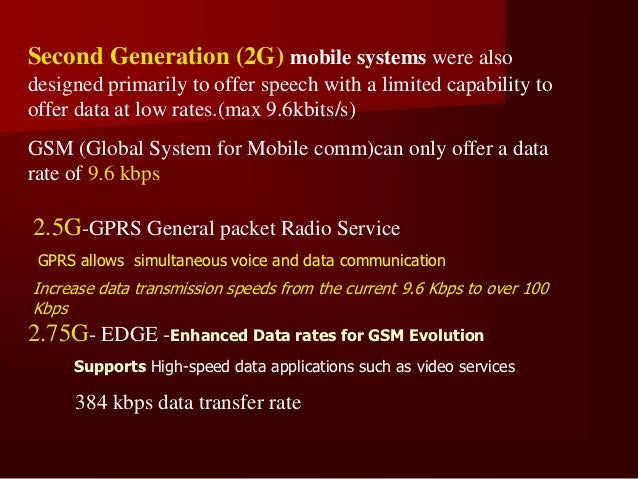 THIRD GENERATION(3G) 1998-Satellite Mobile Communication System       Using in Europe   2 Satellite systems are used      ...