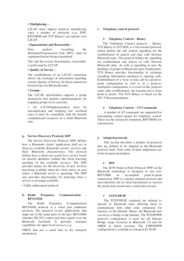 Protocols in Bluetooth