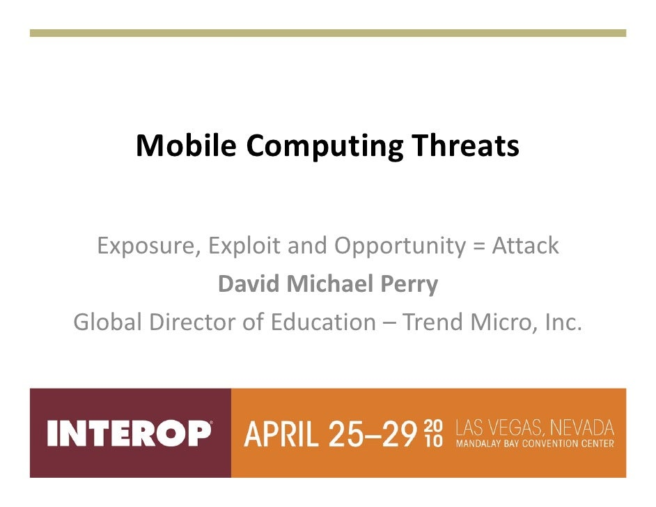 Mobile computing threats