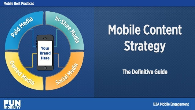 Mobile Content Strategy The Definitive Guide Your Brand Here Mobile Best Practices B2A Mobile Engagement