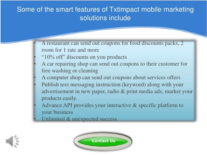 Mobile Coupons -Text Message Coupon - SMS Coupon by TxtImpact