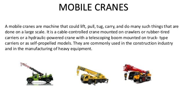 selection operation and maintainance of mobile cranes ( for education purpose only) the information provided is up to my knowledge. Slide 2
