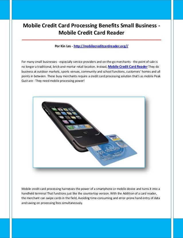 Mobile credit card reader for Portable credit card reader for small business
