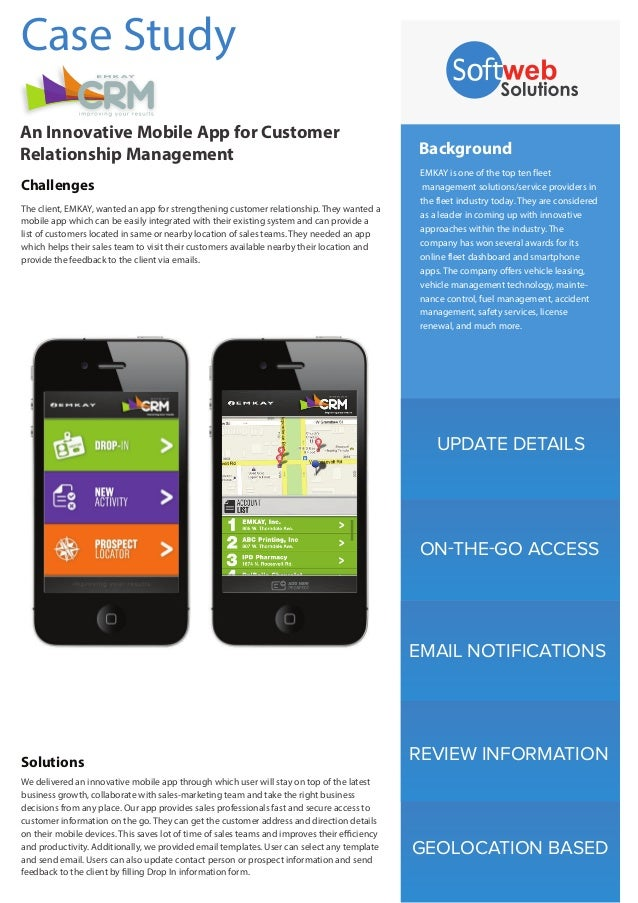 UPDATE DETAILS EMAIL NOTIFICATIONS REVIEW INFORMATION GEOLOCATION BASED Background EMKAY is one of the top ten fleet manag...