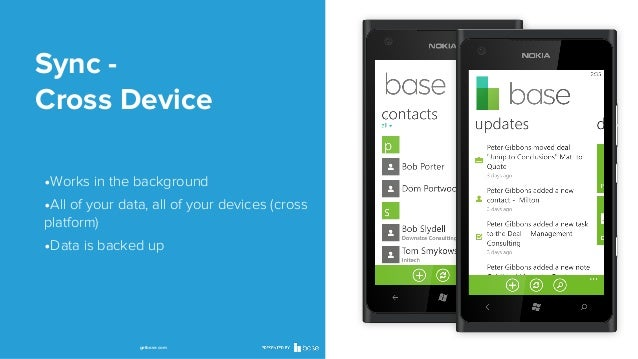 Sync Cross Device •Works in the background •All of your data, all of your devices (cross platform)  •Data is backed up  ge...