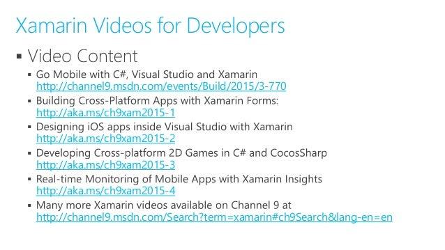 Mobile Cross Platform App Development In C With Xamarin