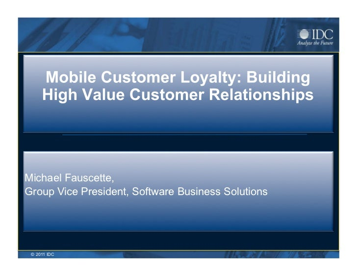 Michael Fauscette,Group Vice President, Software Business Solutions © 2011 IDC