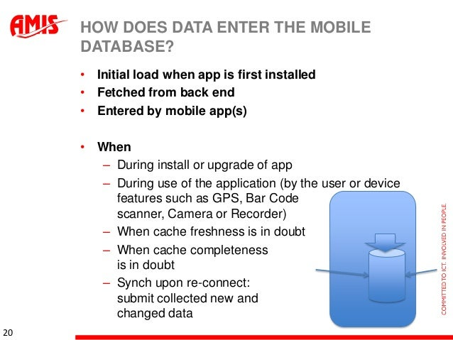 Mobile Database and Service Oriented Architecture