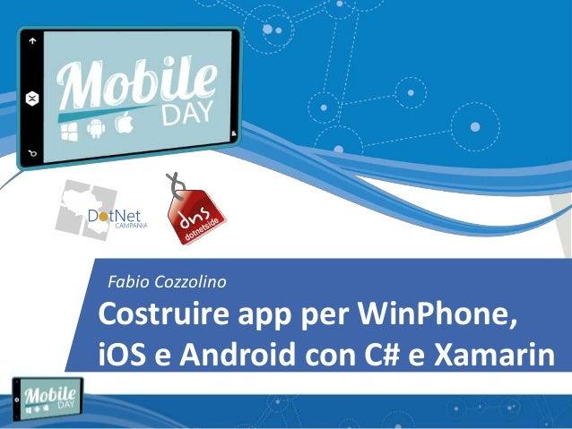 costruire app per winphone ios e android con c e xamarin