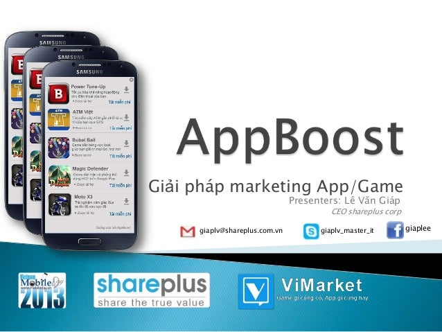 Mobile Day 2013]AppBoost giải pháp marketing app/game chuyên