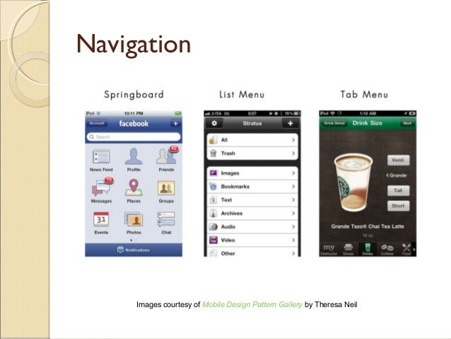 Mobile UI Design Patterns