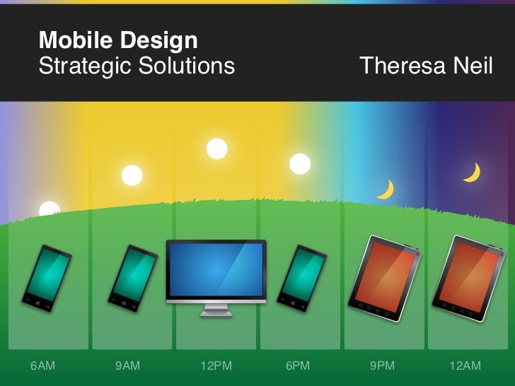 Mobile DesignStrategic Solutions         Theresa Neil6AM    9AM     12PM   6PM   9PM     12AM