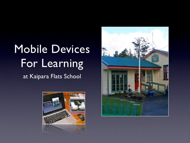 Mobile Devices For Learning at Kaipara Flats School