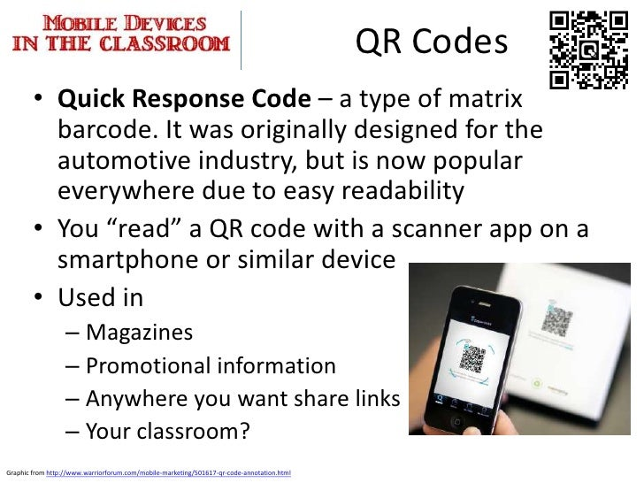 Mobile devices in education remind101 53 qr codes fandeluxe Images
