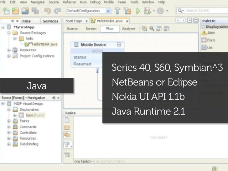HTML, JS, CSSWeb Runtime   Guarana UI library              Aptana, Dreamweaver, VS              Web-enabled with Qt