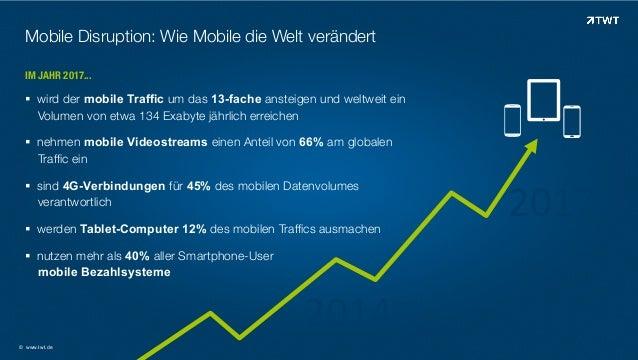 Mobile Disruption: Wie Mobile die Welt verändert IM JAHR 2017...  ! wird der mobile Traffic um das 13-fache ansteigen und...