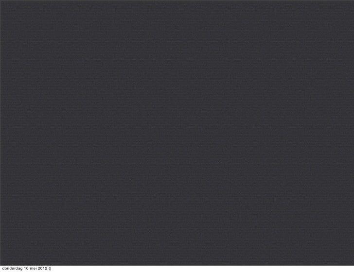 donderdag 10 mei 2012 ()