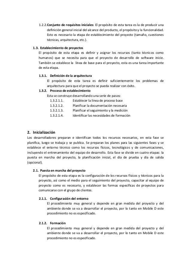 1.2.2.Conjunto de requisitos iniciales: El propósito de esta tarea es la de producir una definición general inicial del al...