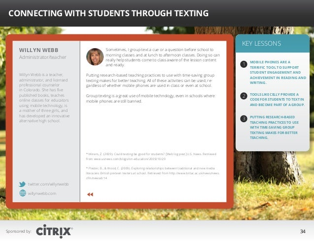 """ Connecting with Students Through Texting  Willyn Webb  Administrator/teacher  Willyn Webb is a teacher, administrator, a..."