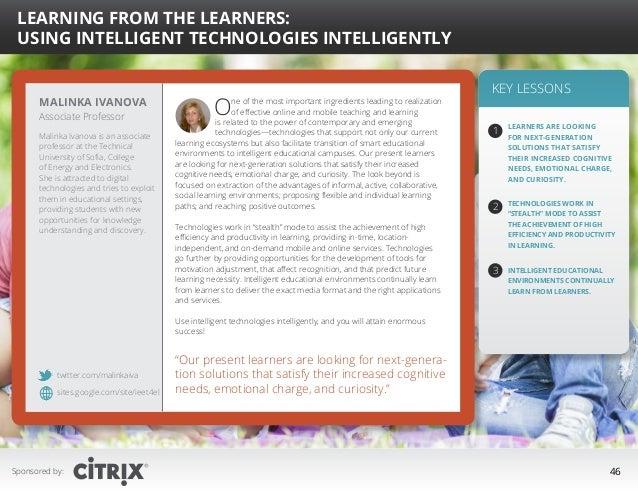 """  Learning from the Learners: Using Intelligent Technologies Intelligently  Malinka Ivanova Associate Professor  Malinka ..."