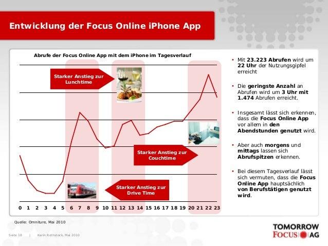 Karin Rothstock, Mai 2010 Seite 18 Entwicklung der Focus Online iPhone App 0 1 2 3 4 5 6 7 8 9 10 11 12 13 14 15 16 17 18 ...