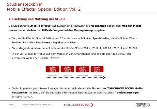 """Studiensteckbrief Mobile Effects: Special Edition Vol. 2 Seite 3 Zielsetzung und Nutzung der Studie Die Studienreihe """"Mobi..."""