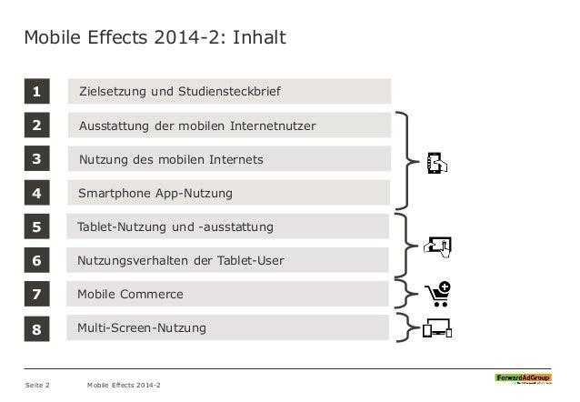 1 Ausstattung der mobilen Internetnutzer Zielsetzung und Studiensteckbrief Nutzung des mobilen Internets Mobile Effects 20...