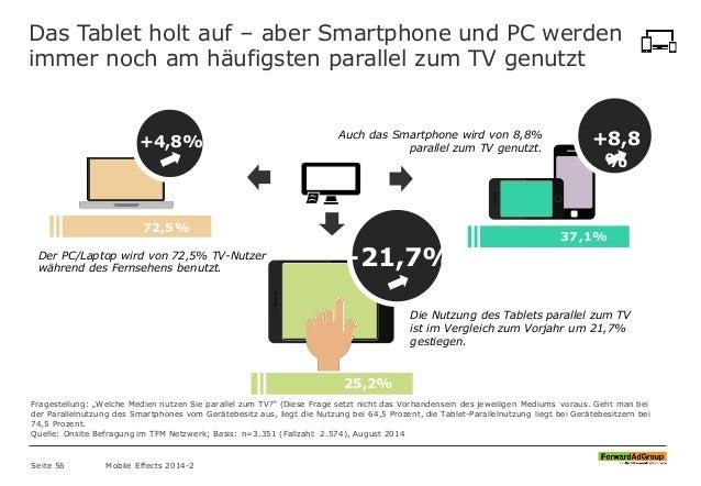 37,1% Das Tablet holt auf – aber Smartphone und PC werden immer noch am häufigsten parallel zum TV genutzt +4,8% +8,8 % +2...