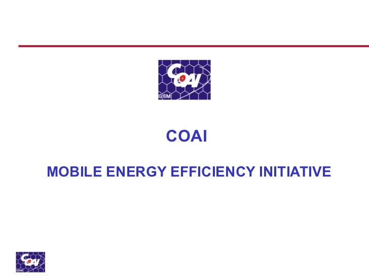 COAI  MOBILE ENERGY EFFICIENCY INITIATIVE