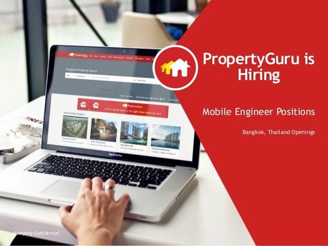 Company Confidential PropertyGuru is  Hiring Mobile Engineer Positions Bangkok, Thailand Openings