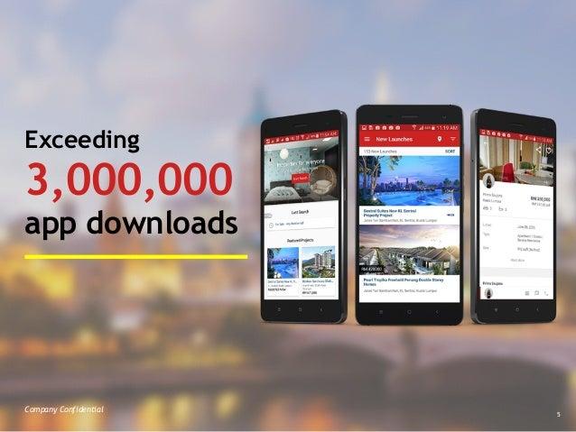 Company Confidential 5 Exceeding  3,000,000 app downloads Company Confidential