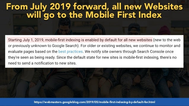 #mobilefirstchecklist at #smxlondon by @aleyda from @orainti#mobilefirstseo at #wceu by @aleyda from @orainti From July 2019...