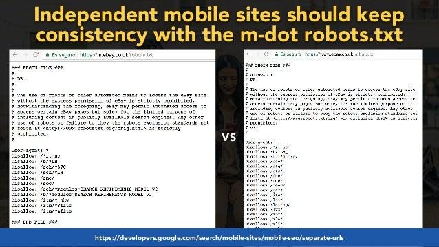 #mobilefirstchecklist at #smxlondon by @aleyda from @orainti#mobilefirstseo at #wceu by @aleyda from @orainti VS Independent...