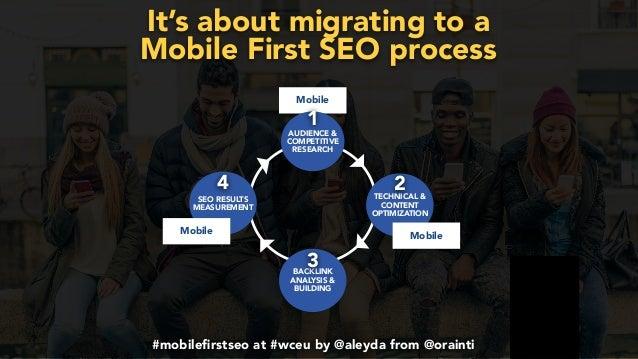 #mobilefirstchecklist at #smxlondon by @aleyda from @orainti#mobilefirstseo at #wceu by @aleyda from @orainti It's about mig...
