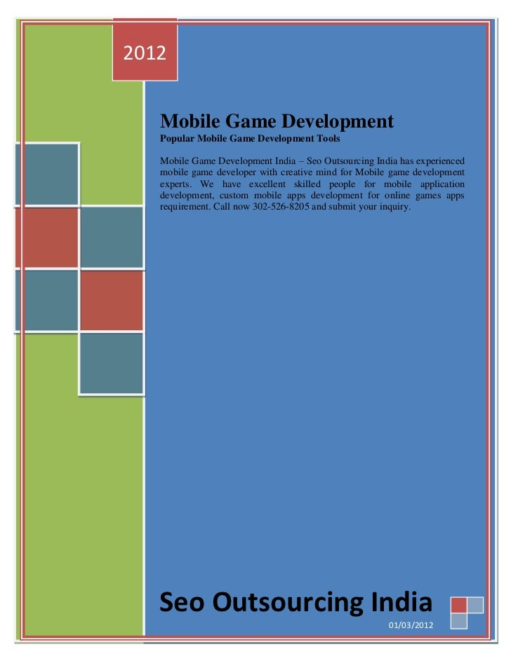 2012   Mobile Game Development   Popular Mobile Game Development Tools   Mobile Game Development India – Seo Outsourcing I...