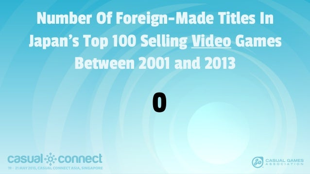 Number Of Foreign-Made Titles In Japan's Top 100 Selling Video Games Between 2001 and 2013 0