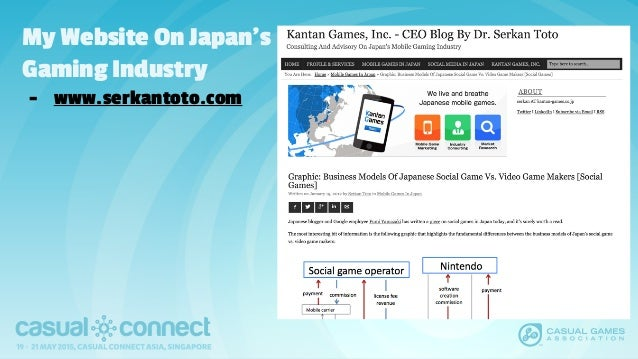 My Website On Japan's Gaming Industry - www.serkantoto.com