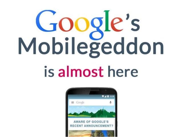 Google's Mobilegeddon is almost here!