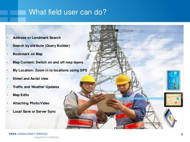 5 What field user can do? • Address or Landmark Search • Search by attribute (Query Builder) • Bookmark on Map • Map Conte...