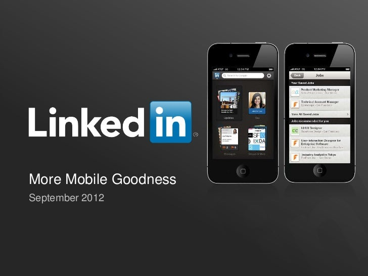More Mobile GoodnessSeptember 2012
