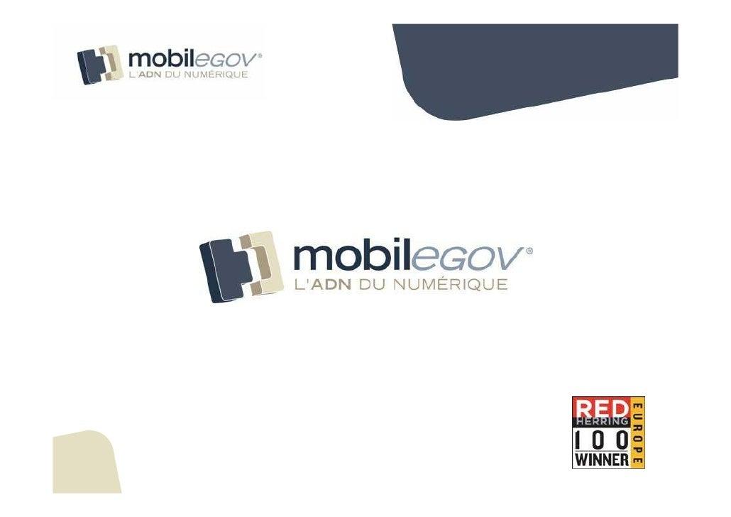 Confidentiel   © 2004-2008 Mobilegov   1