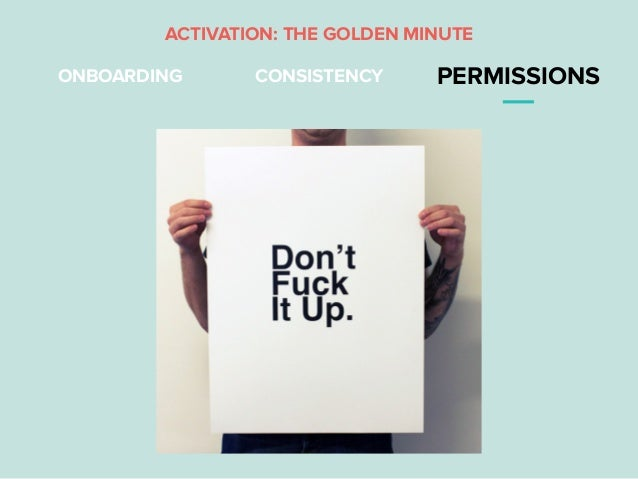 ONBOARDING CONSISTENCY PERMISSIONS ACTIVATION: THE GOLDEN MINUTE