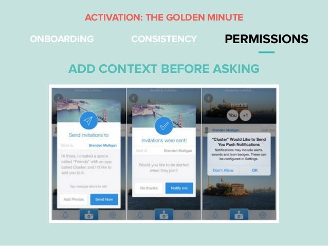 ONBOARDING CONSISTENCY PERMISSIONS ADD CONTEXT BEFORE ASKING ACTIVATION: THE GOLDEN MINUTE