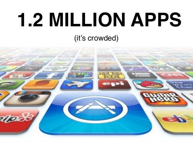 1.2 MILLION APPS (it's crowded)