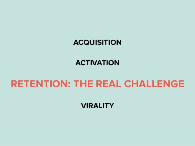 ACQUISITION ACTIVATION RETENTION: THE REAL CHALLENGE VIRALITY