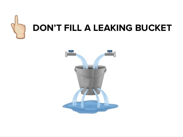 Image result for leaking bucket