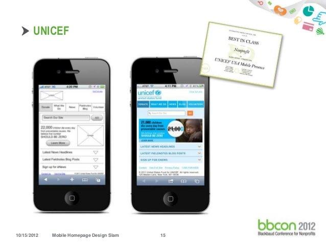 UNICEF10/15/2012 Mobile Homepage Design Slam 15 ...